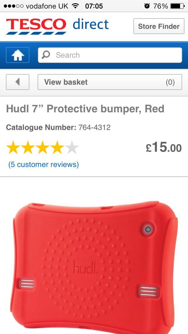 Tesco Hudl Red Rubber case