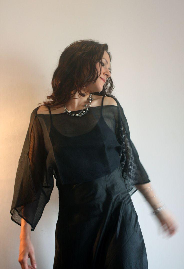 Desire top, cotton. Danica dress, pure silk.
