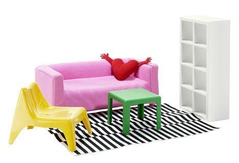 août 2013, ikéa lance des copies de ses meubles en format maison de poupée...
