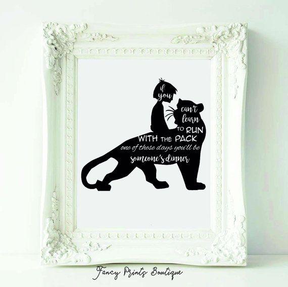 The Jungle Book Black And White Mowgli And Bagheera