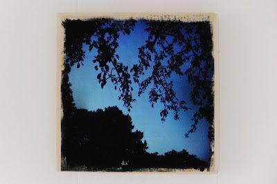 photo transfer onto canvas