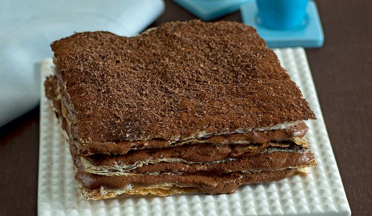 Millefoglie con mousse di cioccolato