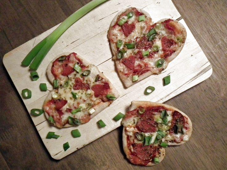 Pizzahjerter {Bakemagi.no}