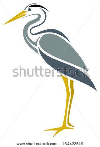 Stylized Great Blue Heron by Egret77, via Shutterstock
