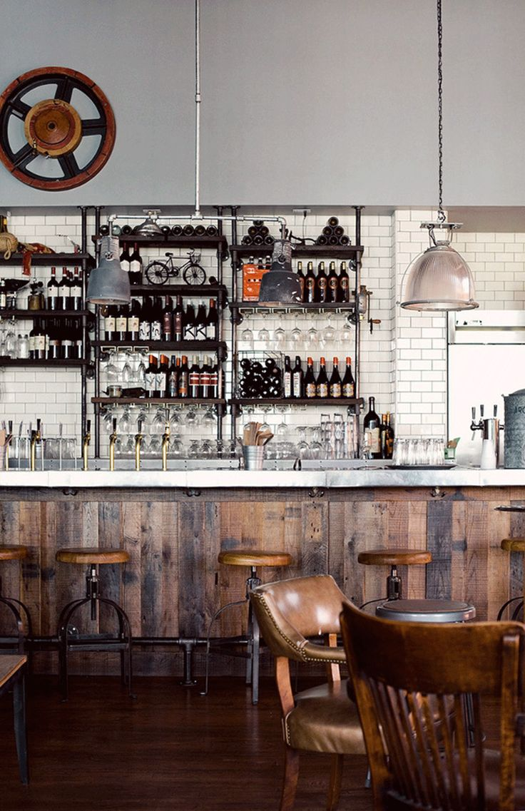 247 best images about restaurant design on pinterest for Rustic industrial decor
