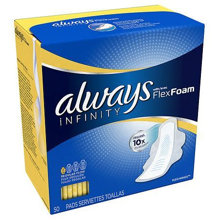 Always Infinity Pads Regular with Flexi-Wings - 50 ea