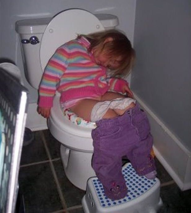 My Little Girl Taking a Potty Training Nap ---- funny pictures hilarious jokes meme humor walmart fails