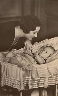 Queen Astrid of Belgium with her son Baudouin, future King of Belgium