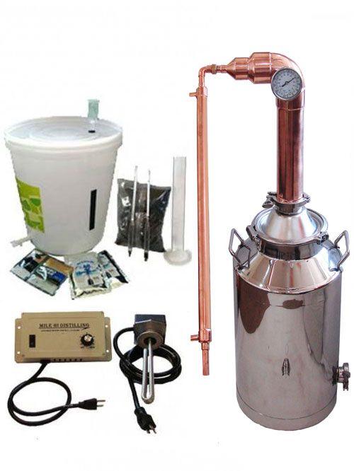 13 Gallon 2″ Copper Pot Still Electric Kit, 110V Controller and Starter Kit.