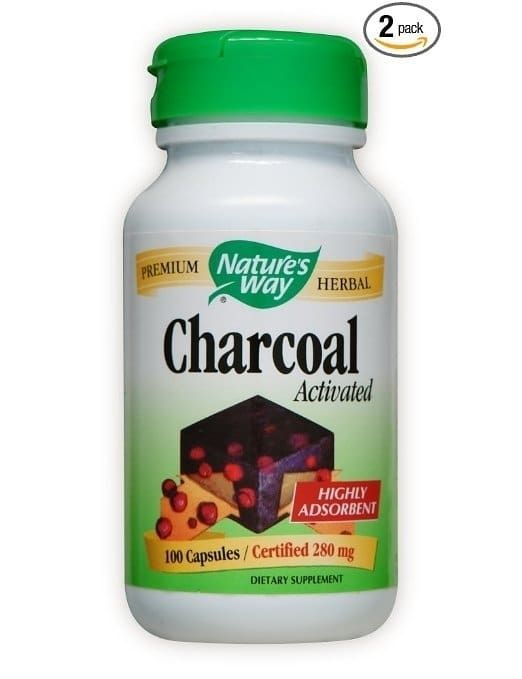 Activated charcoal capsules will absorb unwanted chemicals and toxins in your stomach.