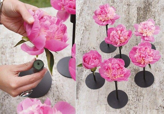 Blumengestecke selber machen-Frühling Dekoration Idee