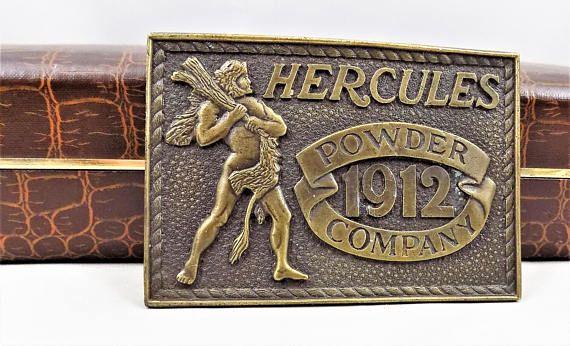 Hercules Powder Company 1976 Bicentennial Brass Buckle Made