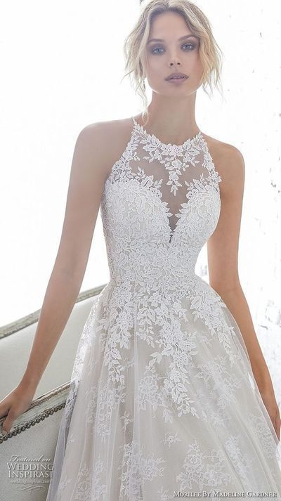 Gorgeous Long White Wedding Dresses backless Wedding Dresses o Neck Wedding Dres ...