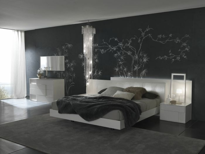 schlafzimmer grau 88 schlafzimmer mit deutlicher pr senz von grau home pinterest dunkle. Black Bedroom Furniture Sets. Home Design Ideas