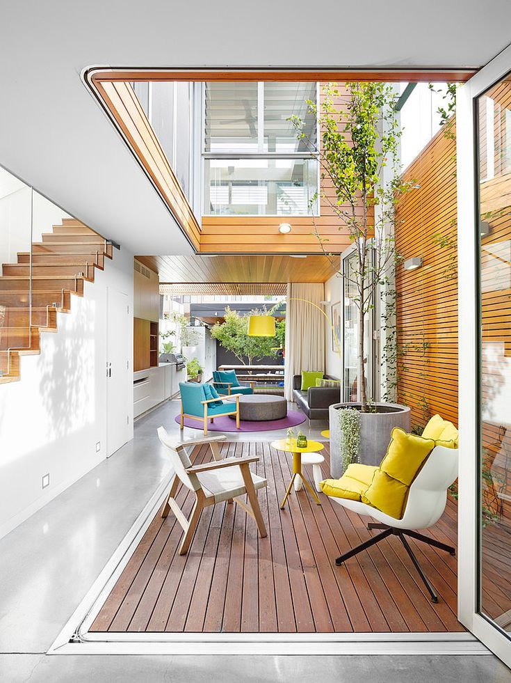 Open House | Elaine Richardson Architect #courtyard #living