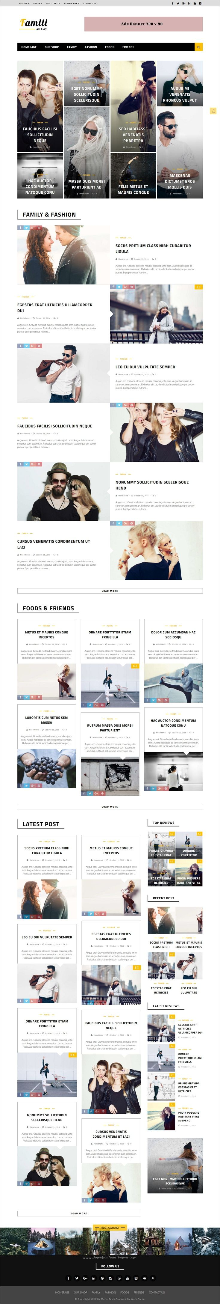 Famili is a premium flat, clean, super flexible and fully responsive #WordPress #magazine theme, best suited for magazine, #news or #blog websites download now➩ https://themeforest.net/item/famili-wordpress-blog-and-magazine-theme/18860430?ref=Datasata