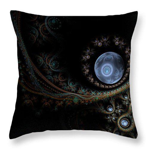 Fractal Throw Pillow featuring the digital art An Abstract Universe by Elena Ivanova IvEA  #ElenaIvanovaIvEAFineArtDesign #Design #Pillow #Cushiоn #HomeDecor #Gift