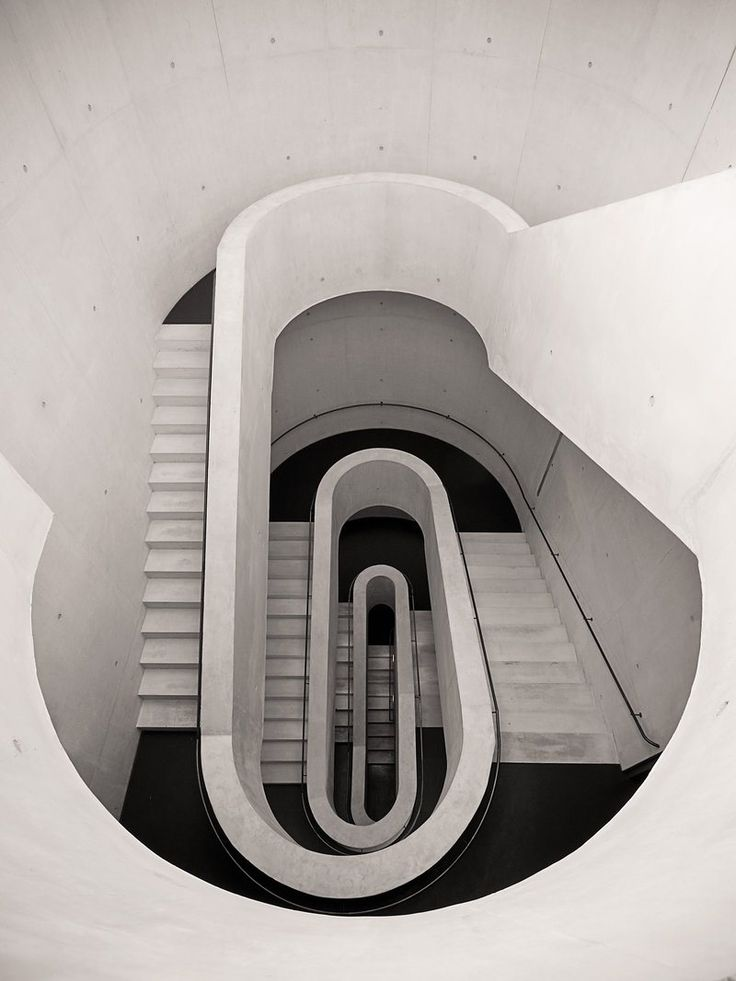 Stairs at Stadt Theater, Darmstadt, Germany  by Peter Writer