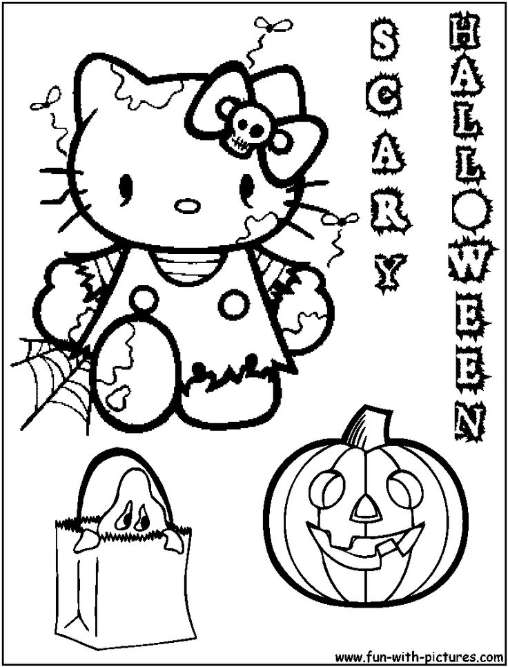 100 ideas Hello Kitty Halloween Coloring Pages Free Print on
