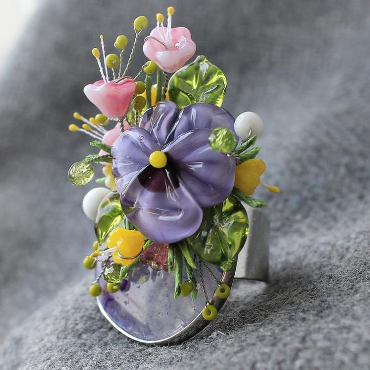 Новые цветочные кольца в продаже - Ярмарка Мастеров - ручная работа, handmade