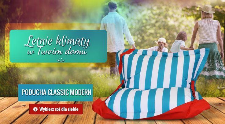 Poducha Modern Nowe pufy w kolekcji doskonałe na taras lub do ogrodu. #poducha #poduchamodern #poduchawpaski #meblewpaski #paskowanemeble #meble #wygodnemeble #nowoczesnemeble #sako #fotel #fotelopoducha