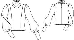Пуловер з коміром гольф | BurdaStyle.ua: Мода, Дизайн, Рукоділля, Викрійки
