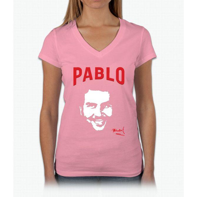 Pablo Escobar Womens V-Neck T-Shirt
