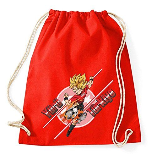 fútbol Bolsa de deporte Son Goku Dragon Ball Alemania Albania Turquía Croacia Austria Suiza Francia Inglaterra Italia España, Soccer:Türkei-Rot #camiseta #realidadaumentada #ideas #regalo
