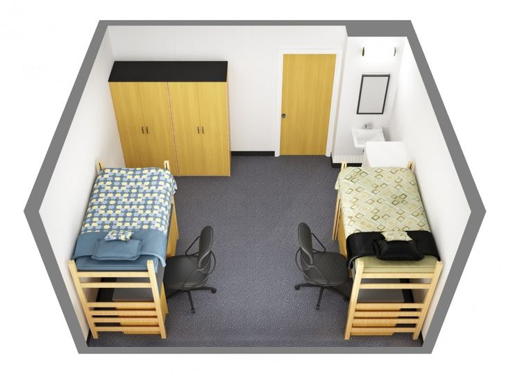 Student Room Design Virtual Room Painter In Small Design Finished With Two Bunk Beds From Wood Image