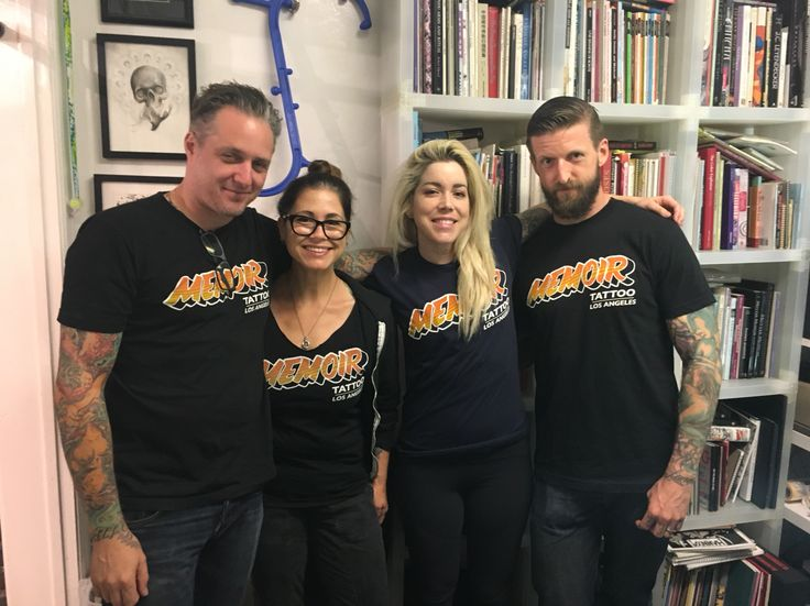 Shawn Barber, Kim Saigh, Christina Ramos, and Seth Wood at Memoir Tattoo