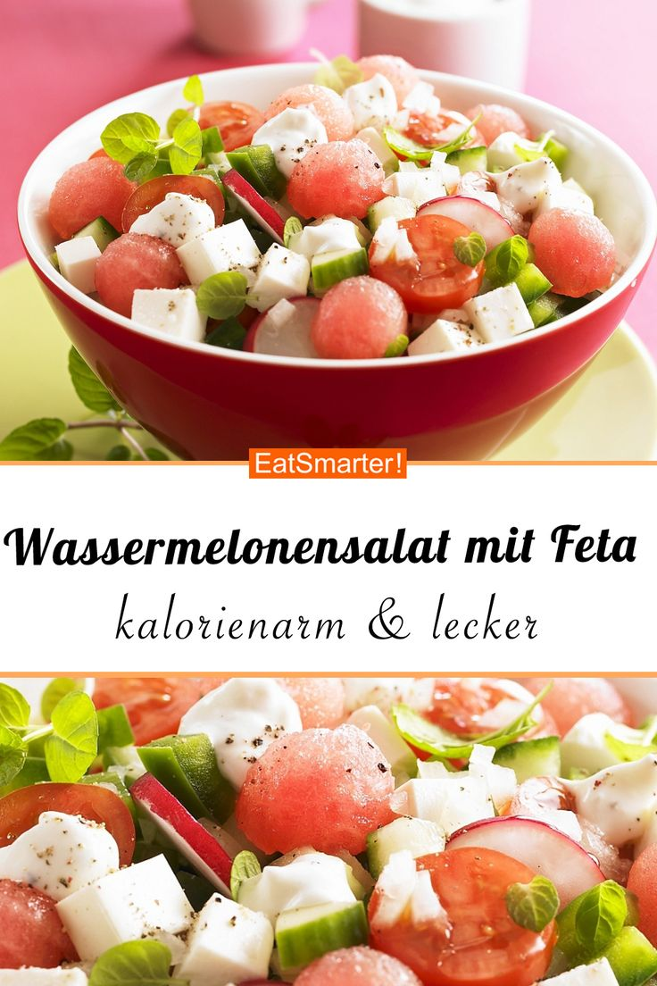 Feta-Wassermelonen-Salat mit Tomaten