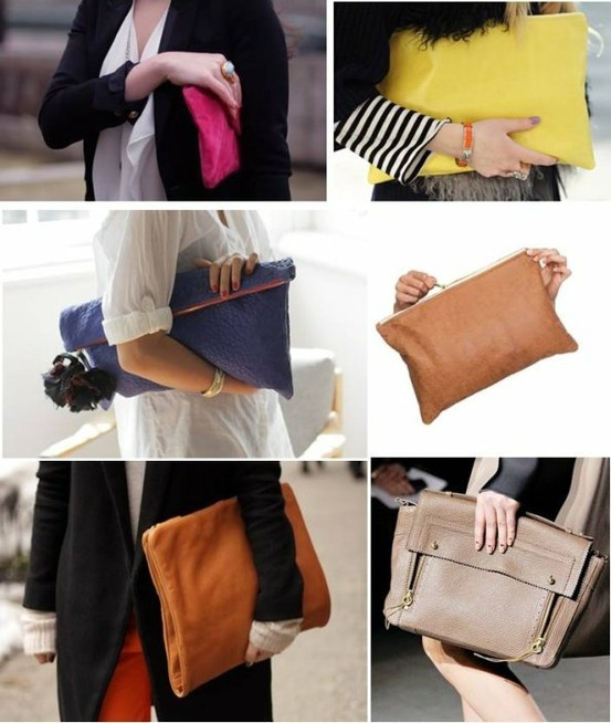 Oversize clutches...Love