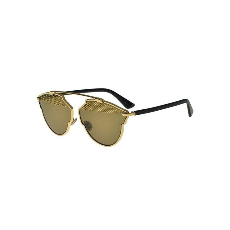 Gafas de Sol DIOR SO REAL S STUDS Gold Black - Light Brown Gold Studs