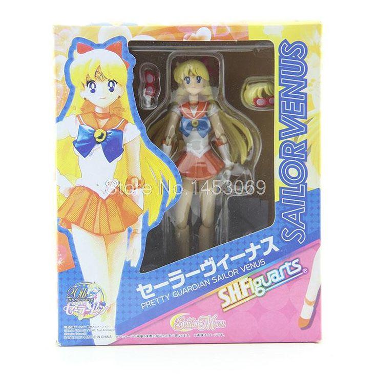 Anime Sailor Moon Tsukino Usagi Sailor Venus Mars Saturn Jupiter Mercury Tenoh PVC Action Figures Collectible Toys 7pcs/set