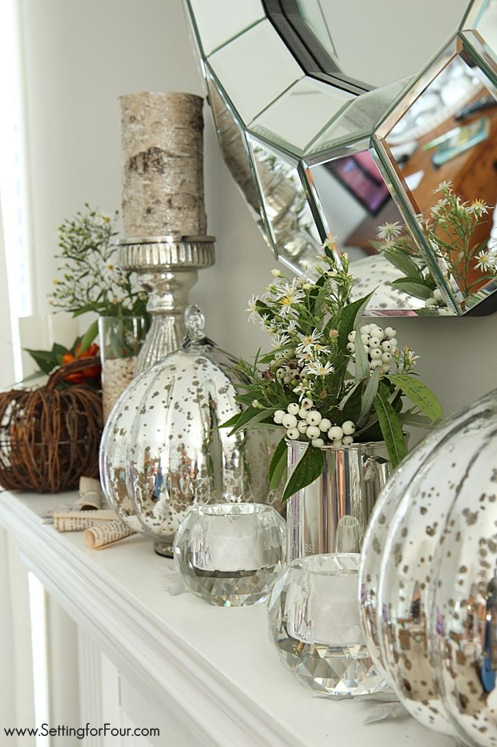 Ideas about fall mantels on pinterest