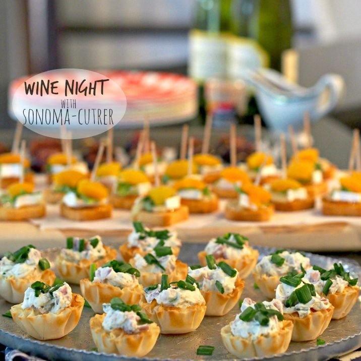 The perfect appetizer pairings for Wine Night! Wine pairing appetizers for chardonnay and pinot noir. Fun and easy appetizers to pair with Sonoma-Cutrer wine.