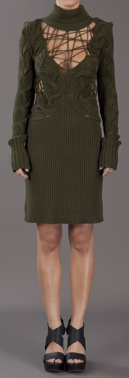 Knit dress in green from McQ by Alexander McQueen