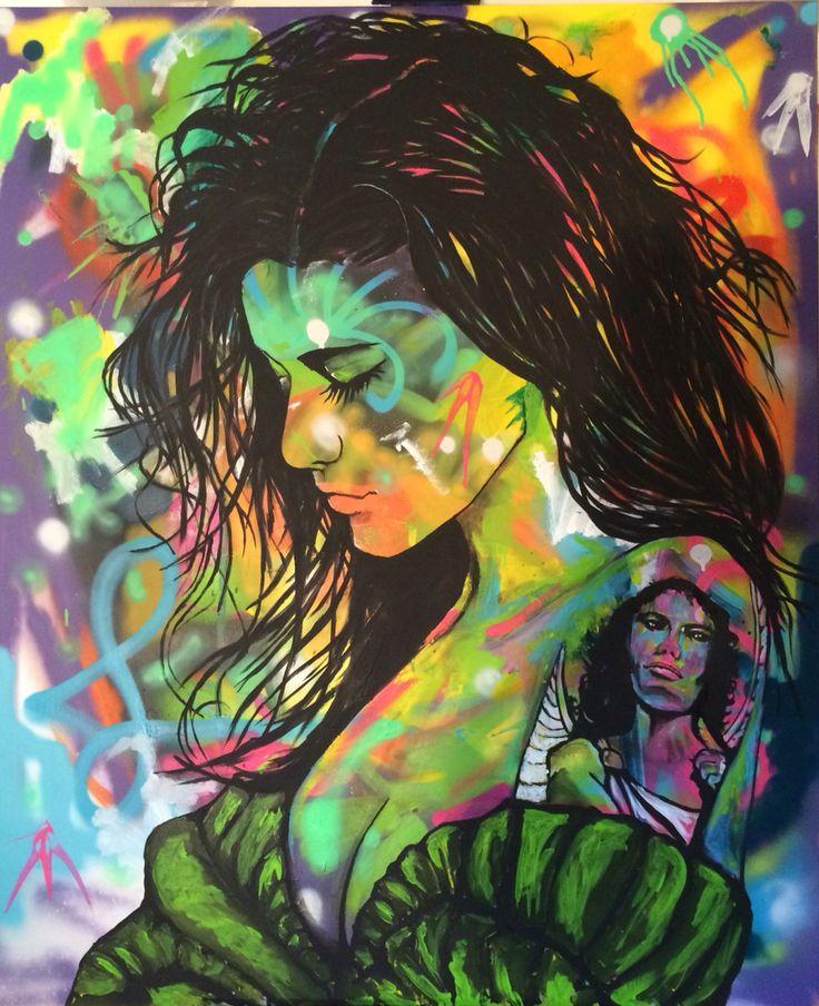 Lucia, acrylic on canvas, 120x100 cm by Ronald Hofman. Instagram: @artbyhofman