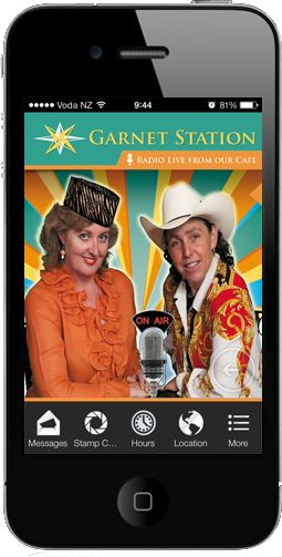 Live radio streaming from Garnet Station Cafe. - http://www.mobileappfx.co.nz