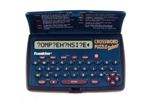 Franklin- Cwm-108 Crossword Puzzle Solver - Over 175,000 Solutions by Franklin. $26.39. Have You Ever Found Yourself Stumped On The Last Answer To A Cryptic Crossword Clue? The Answer Need Not Evade You Any Longer. Ideal For Crossword And Puzzle Enthusiasts Alike Franklin Solvers Will Try To Help Solve Those Tricky Clues. Ensure Victory In Your Crossword Conquest With 175,000 Solutions To Quick And Cryptic Clues With The Franklin Cwm-108 Crossword Puzzle Solver - Ideal ...