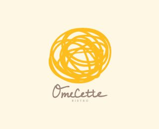 """I love this idea for the restaurants logo. It is so simple, yet gets the point across. I also like how the """"L"""" in the name of the restaurant sort of takes the shape of an egg."""