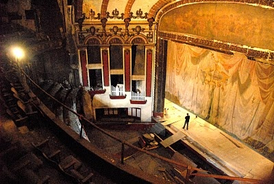The Lyric Theatre, built in 1914, is located just across the street from the Alabama, but is in dire need of restoration.