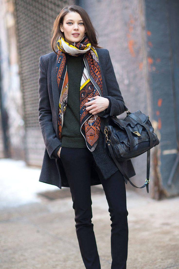 ロングジャケット⇒コート Street Style - Street Style Photos New York Fashion Week Fall 2014 - Harper's BAZAAR