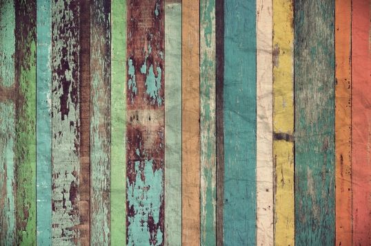 Worn Coloured Wood Wall Wallpaper Wall Mural | MuralsWallpaper.co.uk