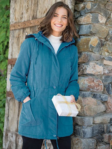 6ced1bb94c7 Winter Woods Hooded Microfiber Parka is wind- and water-resistant with  inner quilting to help ward off winter s chill. Also in petites and plus  size.