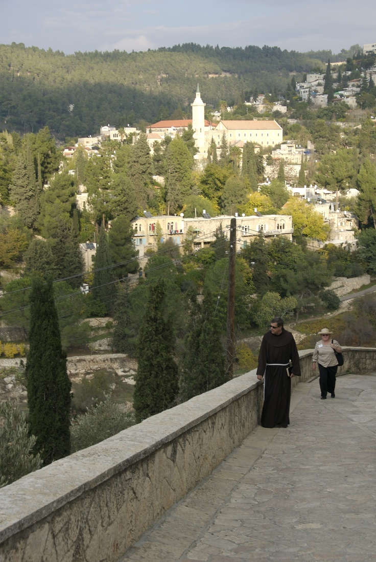 """""""Mary went in haste to the hill country...""""  Ein Karem, home of Elizabeth & Zeccariah and place of the birth of John the Baptist"""