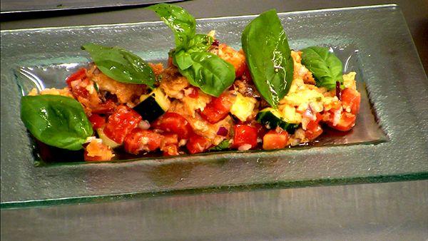 Bread + Veggies = Panzanella