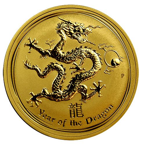 2012 Year of the Dragon Gold Coins
