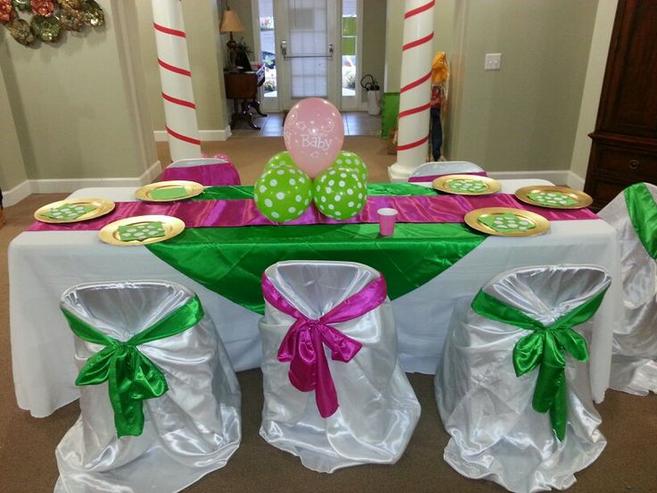 hot pink and lime green baby shower baby shower. Black Bedroom Furniture Sets. Home Design Ideas