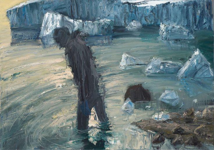 Euan Macleod Dark figure milky sea 2010